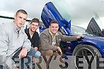 Mark Leane, James O'Sullivan and Kevin Culloty had a look around during the Monster Car Show at the Tralee Racecourse on Monday.