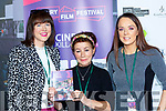 Mary Tuohy, Miriam Owens and Selina Switzer all Tralee whose movie Silence is Golden from birth to death was shown in the Kerry Film Festival in Killarney on Sunday