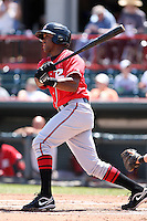 Richmond Flying Squirrels Sharlon Schoop #14 during a game against the Erie Seawolves at Jerry Uht Park on July 27, 2011 in Erie, Pennsylvania.  Richmond defeated Erie 4-2.  (Mike Janes/Four Seam Images)