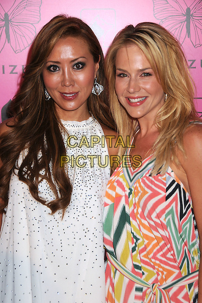 SHIZUE & JULIE BENZ.Shizue Boutique Grand Opening Soiree at Shizue Boutique, Beverly Hills, California, USA..June 26th, 2008.half length beads beaded dress pink white green blue pattern .CAP/ADM/BP.©Byron Purvis/AdMedia/Capital Pictures.