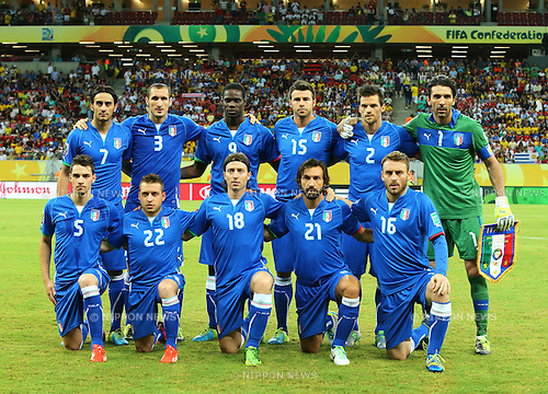 Italy team group line-up (ITA),<br /> JUNE 19, 2013 - Football / Soccer :<br /> FIFA Confederations Cup Brazil 2013 Group A match between Italy 4-3 Japan at Arena Pernambuco in Recife, Brazil. (Photo by Toshihiro Kitagawa/AFLO)