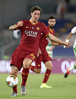 Football, Serie A: AS Roma - Sassuolo, Olympic stadium, Rome, September 15, 2019. <br /> Roma's Nicolò Zaniolo in action during the Italian Serie A football match between Roma and Sassuolo at Olympic stadium in Rome, on September 15, 2019.<br /> UPDATE IMAGES PRESS/Isabella Bonotto