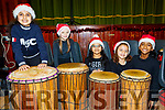 Giving a beat to the Presentation Primary School, Tralee, Christmas concert last Wednesday Dec 11, in the school hall were Raheel Elders, Adalia Ajish, Aliza&Isha Irfan and Resa Sopjani.