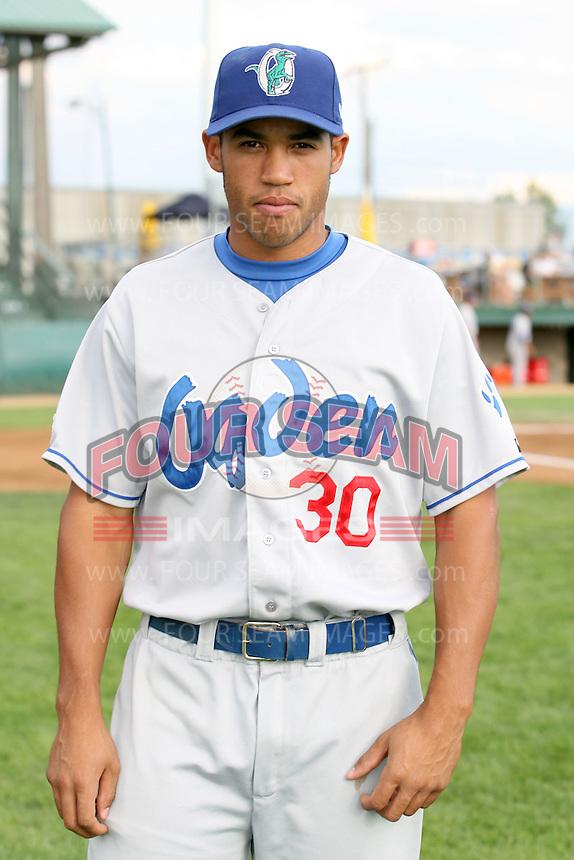 August 12, 2009: Brian Cavazos-Galvez of the Ogden Raptors. The Ogden Raptors are the Pioneer League affiliate of the Los Angeles Dodgers. Photo by: Chris Proctor/Four Seam Images
