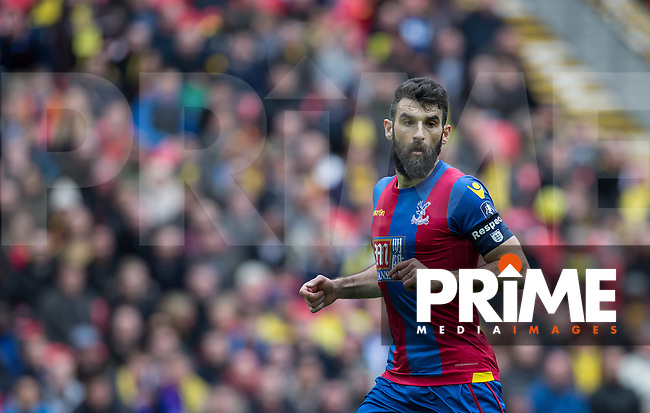 Mile Jedinak of Crystal Palace during the FA Cup Semi Final match between Crystal Palace and Watford at Wembley Stadium, London, England on 24 April 2016. Photo by Andy Rowland.
