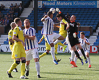 Craig Samson comes out to punch clear in the Kilmarnock v St Mirren Scottish Professional Football League Premiership match played at Rugby Park, Kilmarnock on 13.9.14.
