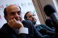 Milano: Pierluigi Bersani partecipa con Umberto Ambrosoli ad una conferenza stampa