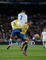 Real Madrid's Real Madrid's  and UD Las Palmas' Mauricio Lemos and Ximo Navarro  during La Liga match. November 5,2017. (ALTERPHOTOS/Inma Garcia)