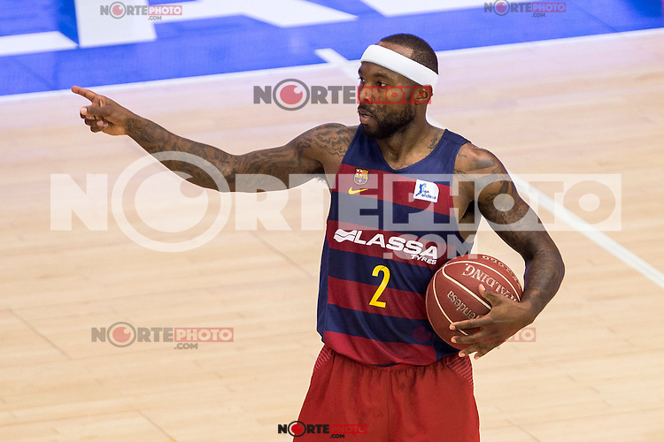 FC Barcelona Lassa's Tyrese Rice during the match of Endesa ACB League between Fuenlabrada Montakit and FC Barcelona Lassa at Fernando Martin Stadium in fuelnabrada,  Madrid, Spain. October 30, 2016. (ALTERPHOTOS/Rodrigo Jimenez) /NORTEPHOTO.COM