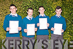 David Enright, Mark Behan, Darragh Kennelly and Bryan Greaney all received their Junior Certificate results on Wednesday from St Michael's Secondary School, Listowel