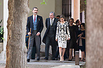 "King Felipe VI of Spain, Iñigo Mendez de Vigo and Queen Letizia during award ceremony of literature in Spanish ""Miguel de Cervantes"" at University of Alcala de Henares in Madrid., April 20, 2017. Spain.<br /> (ALTERPHOTOS/BorjaB.Hojas)"