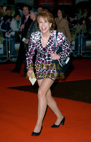 "KATHY LETTE.""Becoming Jane"" World Premiere, Odeon West End, .London, England, March 4th 2007..full length black red white patterned print dress jacket skirt suit.CAP/CAN.©Can Nguyen/Capital Pictures"