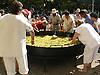 Cooking a Paella during the traditional wine festival &quot;La Vermada&quot; in Binissalem<br /> <br /> Cocinando una Paella durante el festival traditional del vino &quot;La Vermada&quot; (cat.: Festes de Vermar) en Binissalem<br /> <br /> Zubereitung einer Paella w&auml;hrend des traditionellen Weinfests &quot;La Vermada&quot; in Binissalem<br /> <br /> 2272 x 1704 px<br /> 150 dpi: 38,47 x 28,85 cm<br /> 300 dpi: 19,24 x 14,43 cm