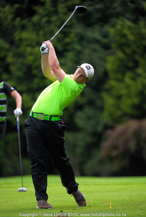 Greg Shaw. Day one of the Jennian Homes Charles Tour Lawnmaster Classic Manawatu Open at Manawatu Golf Club, Palmerston North, New Zealand on Friday, 18 March 2016. Photo: Dave Lintott / lintottphoto.co.nz