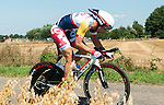 SITTARD, NETHERLANDS - AUGUST 16: Jens Debusschere of Belgium riding for Lotto Belisol competes during stage 5 of the Eneco Tour 2013, a 13km individual time trial from Sittard to Geleen, on August 16, 2013 in Sittard, Netherlands. (Photo by Dirk Markgraf/www.265-images.com)