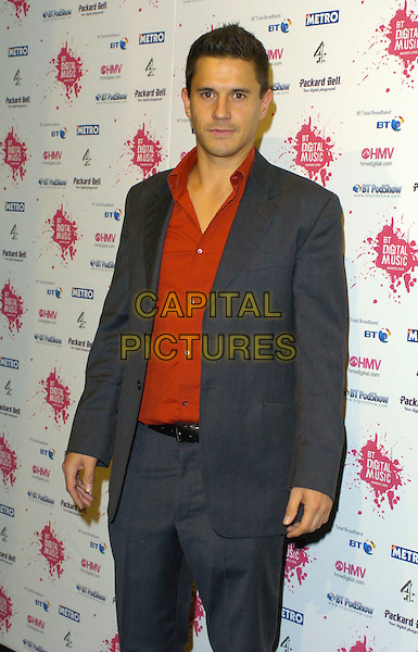 JEREMY EDWARDS.At the BT Digital Music Awards,.The Roundhouse, Camden,London, england,.October 3rd 2006..half length grey suit jacket red shirt.Ref: CAN.www.capitalpictures.com.sales@capitalpictures.com.©Can Nguyen/Capital Pictures