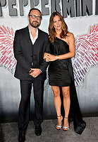 "LOS ANGELES, CA. August 28, 2018: Jennifer Garner & Pierre Morel at the world premiere of ""Peppermint"" at the Regal LA Live."