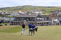 Guido Migliozzi (ITA) and Jimmy Nesbitt (AM) walking down the 2nd during the Pro-Am of the Irish Open at LaHinch Golf Club, LaHinch, Co. Clare on Wednesday 3rd July 2019.<br /> Picture:  Thos Caffrey / Golffile<br /> <br /> All photos usage must carry mandatory copyright credit (© Golffile | Thos Caffrey)