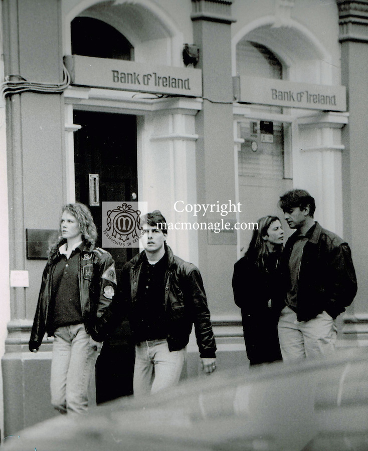 Top Gun actor Tom Cruise and his wife Nicole Kidman pictured in Dingle in the summer of 1991.. Photo: macmonagle.com archive