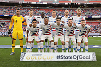 CLEVELAND, OHIO - JUNE 22: United States Starting Eleven during a 2019 CONCACAF Gold Cup group D match between the United States and Trinidad & Tobago at FirstEnergy Stadium on June 22, 2019 in Cleveland, Ohio.