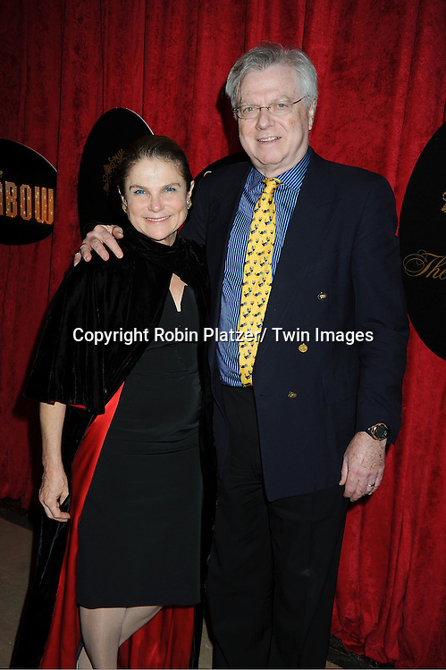 """Tovah Feldshuh and husband arrives at the """" End Of The Rainbow"""" Broadway opening night party  at The Plaza Hotel  in New York City on April 2, 2012. The show stars Tracie Bennett, Tom Pelphrey, Michael Cumptsy and Jay Russell."""