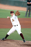 Seth Blair, Arizona State Sun Devils pitching against Southern California at Packard Stadium, Tempe, AZ - 04/16/2010.Photo by:  Bill Mitchell/Four Seam Images.
