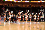 March 6, 2015; Las Vegas, NV, USA; Loyola Marymount Lions cheerleaders perform against the Gonzaga Bulldogs during the second half of the WCC Basketball Championships at Orleans Arena.