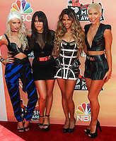 LOS ANGELES, CA, USA - MAY 01: Lauren Bennett, Natasha Slayton, Emmalyn Estrada, Paula Van Oppen, G.R.L., GRL at the iHeartRadio Music Awards 2014 held at The Shrine Auditorium on May 1, 2014 in Los Angeles, California, United States. (Photo by Celebrity Monitor)