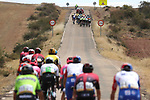 Crosstail winds from Km0 ensured a frantic stage with groups all over the road in echelons during Stage 17 of La Vuelta 2019  running 219.6km from Aranda de Duero to Guadalajara, Spain. 11th September 2019.<br /> Picture: Luis Angel Gomez/Photogomezsport | Cyclefile<br /> <br /> All photos usage must carry mandatory copyright credit (© Cyclefile | Luis Angel Gomez/Photogomezsport)