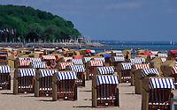 Strand von Travemünde, Schleswig-Holstein, Deutschland