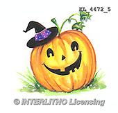 Interlitho, STILL LIFE STILLLEBEN, NATURALEZA MORTA, paintings+++++,KL4472/5,#i# stickers,halloween, pumpkin,
