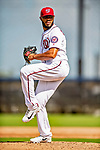 22 February 2019: Washington Nationals pitcher Jimmy Cordero on the mound during a Spring Training workout at the Ballpark of the Palm Beaches in West Palm Beach, Florida. Mandatory Credit: Ed Wolfstein Photo *** RAW (NEF) Image File Available ***