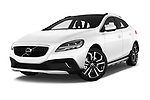 Stock pictures of low aggressive front three quarter view of 2017 Volvo V40-Cross-Country - 5 Door Wagon Low Aggressive