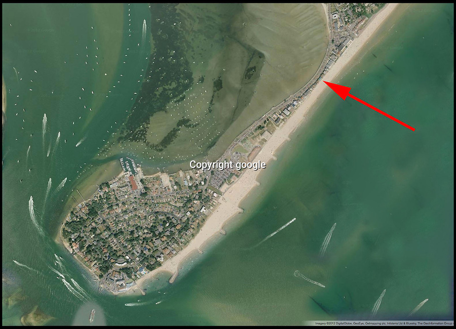 BNPS.co.uk (01202 558833)<br /> Picture: google<br /> <br /> An google arial view showing the house on the Sandbanks peninsular<br /> <br /> This run-down house in desperate need of repair has sold for nearly &pound;3.5million to set a record for the millionaire's resort of Sandbanks. The price paid for the shabby home on the sandy peninsular in Poole, Dorset, equates to &pound;1,725 per square foot. But the unnamed couple who have bought the pile are more interested in the two-way views of picturesque Poole Harbour from the front and the sea to the rear. The property is one of the last of its type on the exclusive peninsula that has yet to be bought up and developed.??Sandbanks is rated at the fifth most expensive location in the world to buy property, with only Manhatten, Tokyo, Hong Kong and London ahead of it. Estate agents have described the deal as a 'sensible price'.?