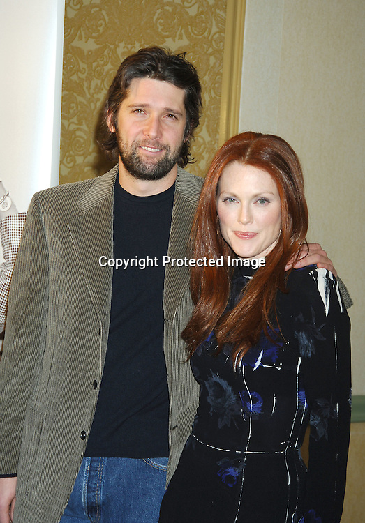 Bart Freundlich and wife Julianne Moore ..at The New York Women in Film and Televison 25th Annual ..Muse Awards luncheon on December 13, 2005 at The New York Hilton Hotel. ..Photo by Robin Platzer, Twin Images