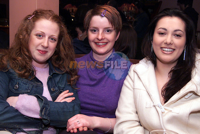 Julie-Anne Aspell, Hillview, Gillian Durnin, Ard-Ri and Yasmuine Akram, Meadow view enjoying a night in McHughs..pic: Newsfile