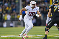 EUGENE, OR - NOVEMBER 1, 2014:  Luke Kaumatule during Stanford's game against Oregon. The Ducks defeated the Cardinal 45-16.