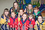 Girl Guides, Brownies and Ladybirds celebrate World Thinking day with a service in the Church of the Ressurection Killarney on Friday evening front row l-r: Scartlett O'Reilly, Eileen O'Leary, Emma O'Carroll, Amy Kerrisk. Back row: Amy Kelly, Sarah Canavan, Emma Goulding, Hannah Sheery and Caragh Sugrue