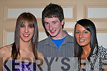 Athletes Laura O'Reilly Ballymac, Tomas Bradley Currow and Laura Crowe Tralee who were honoured at the An Riocht AC awards night in the River Island Hotel Castleisland on Friday night   Copyright Kerry's Eye 2008