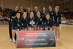 New Zealand team winners  <br /> <br /> Swansea University International Netball Test Series: Wales v New Zealand<br /> Ice Arena Wales<br /> 08.02.17<br /> &copy;Ian Cook - Sportingwales