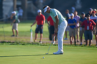 Ian Poulter (GBR) watches his putt on 11 during 1st round of the 100th PGA Championship at Bellerive Country Club, St. Louis, Missouri. 8/9/2018.<br /> Picture: Golffile | Ken Murray<br /> <br /> All photo usage must carry mandatory copyright credit (© Golffile | Ken Murray)