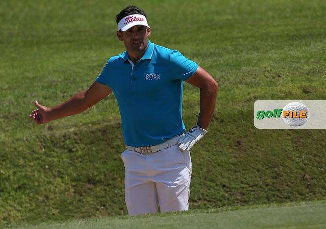 Lee Slattery (ENG) unable to birdie any holes on the back nine but scoring consistently a 68 (-10) during Round Three of The Africa Open 2014 at the East London Golf Club, Eastern Cape, South Africa. Picture:  David Lloyd / www.golffile.ie