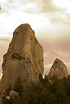 Rock towers in the City of Rocks National Reserve, Idaho.
