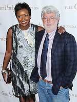 NEW YORK CITY, NY, USA - JUNE 03: Mellody Hobson and George Lucas arrive at the 2014 Gordon Parks Foundation Awards Dinner & Auction held at Cipriani Wall Street on June 3, 2014 in New York City, New York, United States. (Photo by Jeffery Duran/Celebrity Monitor)