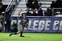 CARY, NC - DECEMBER 15: Paul Rothrock #3 of Georgetown University takes a shot during a game between Georgetown and Virginia at Sahlen's Stadium at WakeMed Soccer Park on December 15, 2019 in Cary, North Carolina.