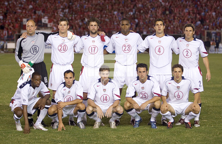 The USA starting eleven against Panama,in Panama City, Panama, Wednesday, June 8, 2005.