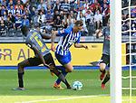 12.05.2018, OLympiastadion, Berlin, GER, 1.FBL, Hertha BSC VS. RB Leipzig, im Bild <br /> Julian Schieber (Hertha BSC Berlin #16), Ibrahima Konate (RB Leipzig #6)<br /> <br /> <br />       <br /> Foto &copy; nordphoto / Engler