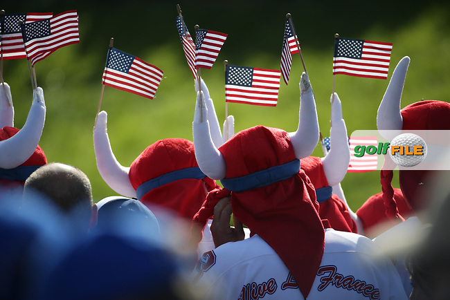 American Marshals during Saturday's Fourballs, at the Ryder Cup, Le Golf National, Île-de-France, France. 29/09/2018.<br /> Picture David Lloyd / Golffile.ie<br /> <br /> All photo usage must carry mandatory copyright credit (© Golffile   David Lloyd)