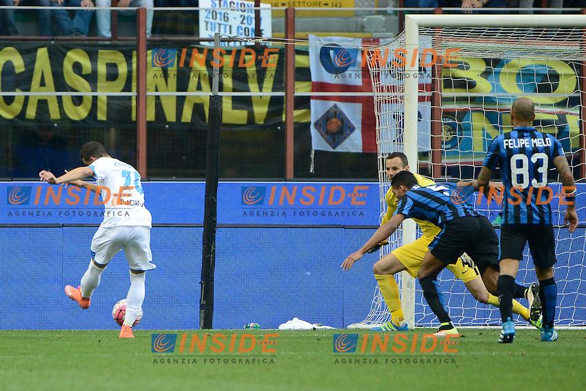 Gol di Manuel Pucciarelli Empoli 1-1. Celebration goal<br /> Milano 7-05-2016 Stadio Giuseppe Meazza - Football Calcio Serie A Inter - Empoli. Foto Giuseppe Celeste / Insidefoto