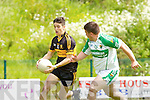 Tony Brosnan Dr Crokes runs at the Ballylongford defence during their Div 5 clash in Killarney on Sunday